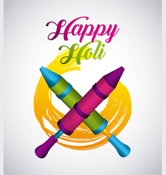 Happy holi indian traditional carnival vector
