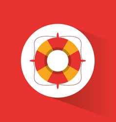 lifebuoy rescue protection vacations vector image