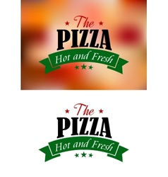 Pizza sign or label vector image