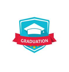 graduation emblem school or vector image