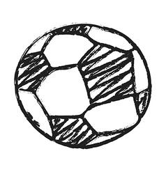 Hand draw football ball vector image vector image