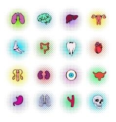 Organs Icons Set vector image vector image