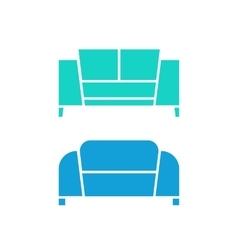 two green and blue sofas vector image vector image