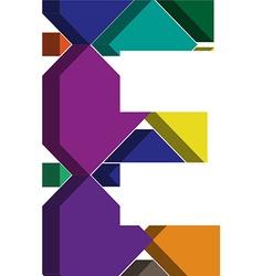 3d font letter E vector