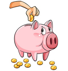 A piggy bank vector image