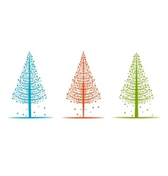 Abstract pines sketch for your design vector