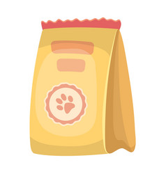 animal feed packagepet shop single icon in vector image
