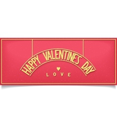 Beautiful Valentines Day design lettering vector image
