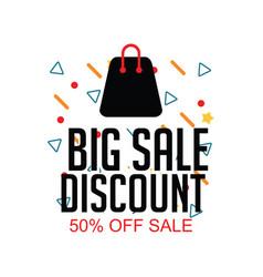 Big sale discount 50 off sale template design vector