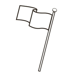Blank flag icon vector