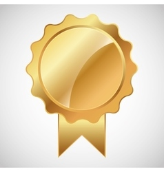 blank metallic label or seal icon image vector image