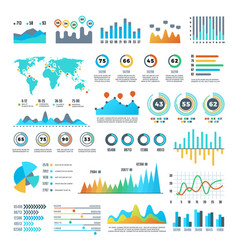 Business demographics and statistics infographic vector