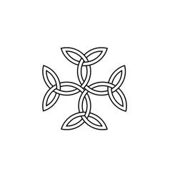 Carolingian cross triquetra symbol vector