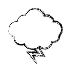 Cloud and thunder icon vector