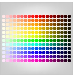 color palette with shade of colors vector image