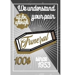 Color vintage funeral poster vector