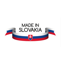 colored ribbon with the slovak tricolor vector image