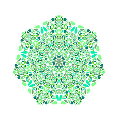 Colorful geometrical isolated floral ornament vector