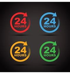 Colour set 24 hours vector