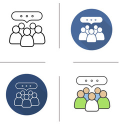 Conference icons vector image
