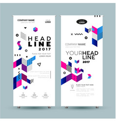 Corporate banner - template vector