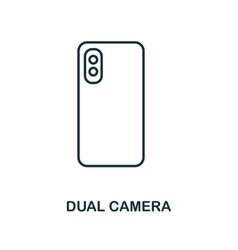 dual camera icon monochrome style design from vector image