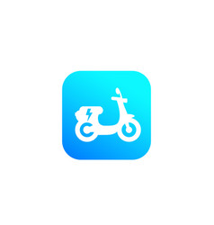 Electric scooter icon green city transport vector