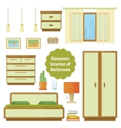Element of the interior bedroom vector image