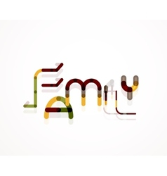 Family word concept vector