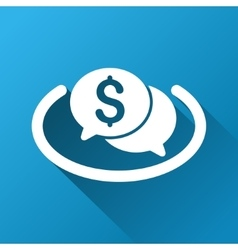 Financial Network Chat Gradient Square Icon vector
