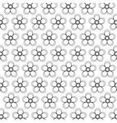 Floral design garden white vector image