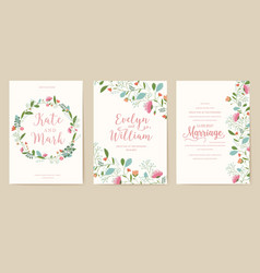 flower theme for the design of gift flyers the vector image