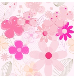 Flower vintage seamless background vector image
