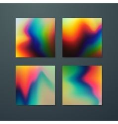 Fluid iridescent multicolored backgrounds vector