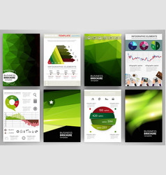 green backgrounds abstract concept infographics vector image