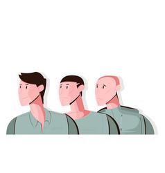 Hair loss concept vector