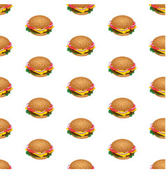 hamburger seamless pattern background for fast vector image