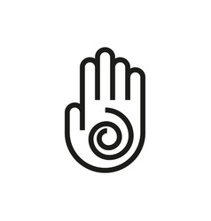 hand symbol icon on white background vector image