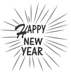 happy new year on white background happy new year vector image