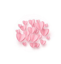 heart round background with light pink paper vector image