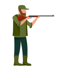 Hunter man icon flat style vector