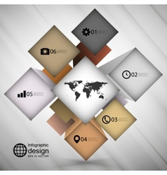 infographic cube box for business concepts modern vector image