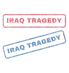 iraq tragedy textile stamps vector image