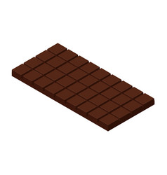 isometric chocolate bar vector image