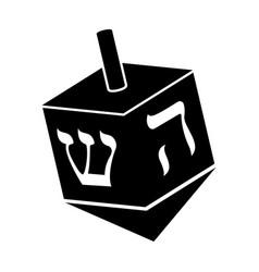 Jewish dreidel icon vector