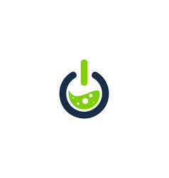 Lab power logo icon design vector