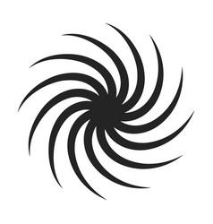 Liquid twirl black icon whirlpool dynamic vector