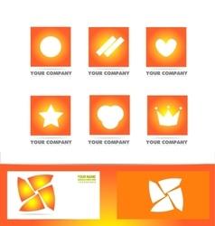 Logo design icon elements set vector image