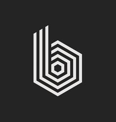 logo letter b vector image
