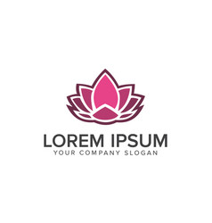 lotus flower logobeauty fashion logo template vector image